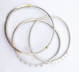 "Jessica Weiss Sterling Silver ""Bumpy"" Bangles"