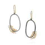 Todd Reed Yellow Gold and Patina Silver Dangle Earrings