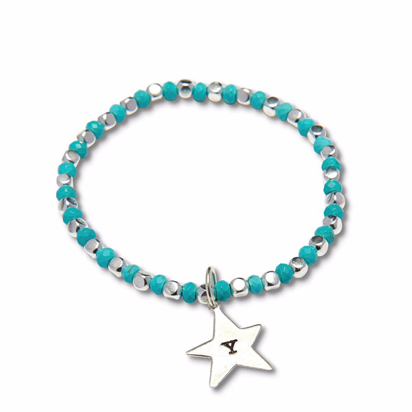 Evening Star Silver Plated Bead Bracelet