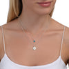 BE PURE - Double Chain Sterling Silver Necklace with Swarovski® Crystal