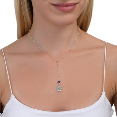 JUST BE - Tail Chain Sterling Silver Necklace with Swarovski® Crystal