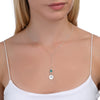 BE PURE - Tail Chain Sterling Silver Necklace with Swarovski® Crystal