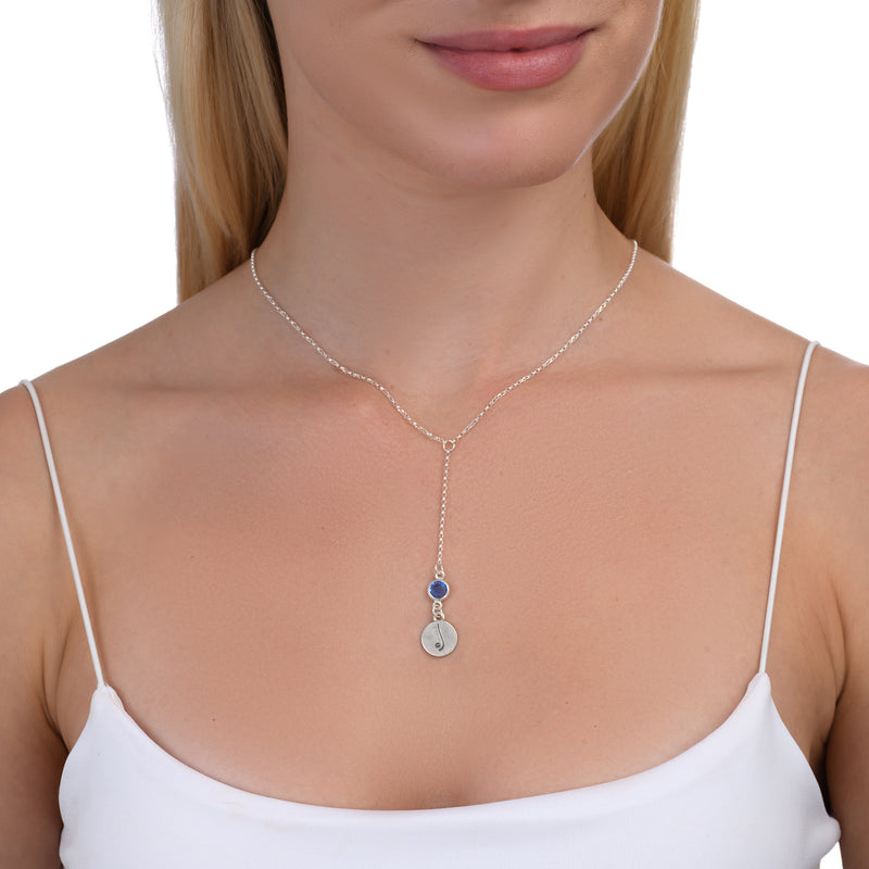 BE FREE - Tail Sterling Silver Necklace with Swarovski® Crystal