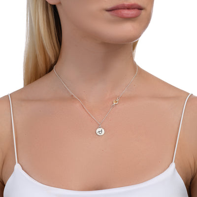 BE BRAVE - Sterling Silver Necklace with Swarovski® Crystal