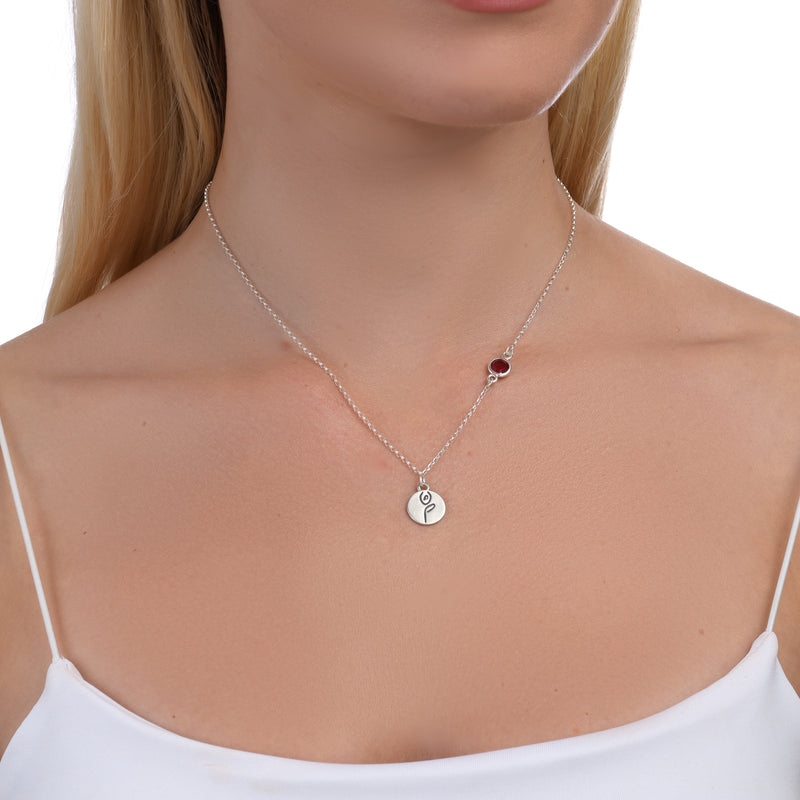 BE STRONG - Sterling Silver Necklace with Swarovski® Crystal