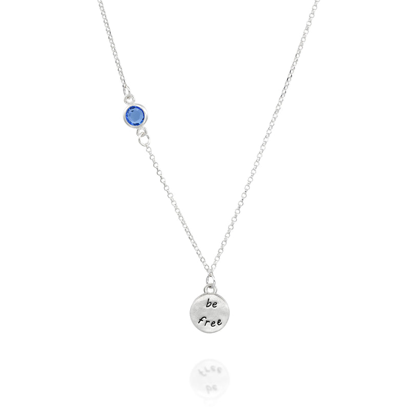 BE FREE - Sterling Silver Necklace with Swarovski® Crystal