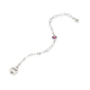 JUST BE - Sterling Silver Bold Link Bracelet with Swarovski® Crystal