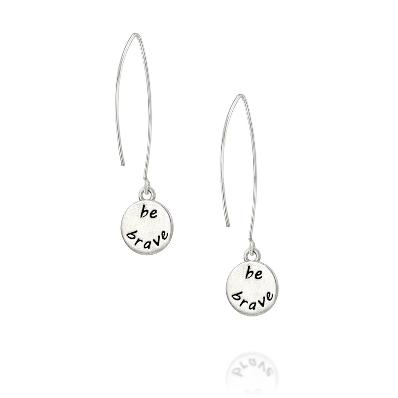 BE BRAVE -  Sterling Silver Earrings