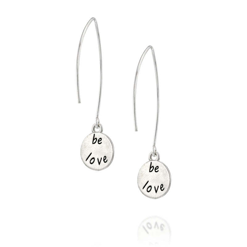 BE LOVE -  Sterling Silver Earrings