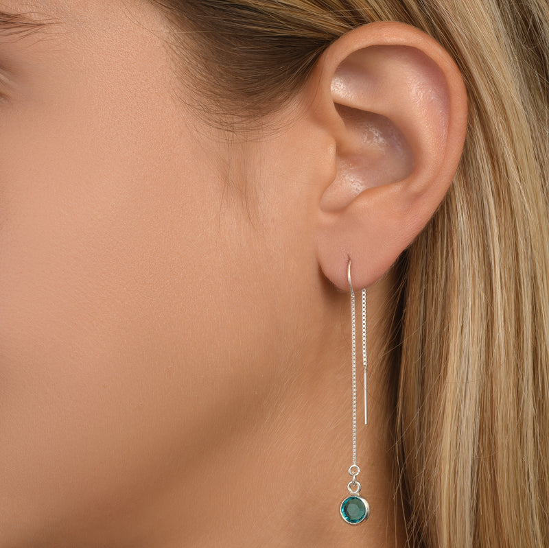 BE PURE -  Tail Sterling Silver Earrings with Swarovski® Crystal