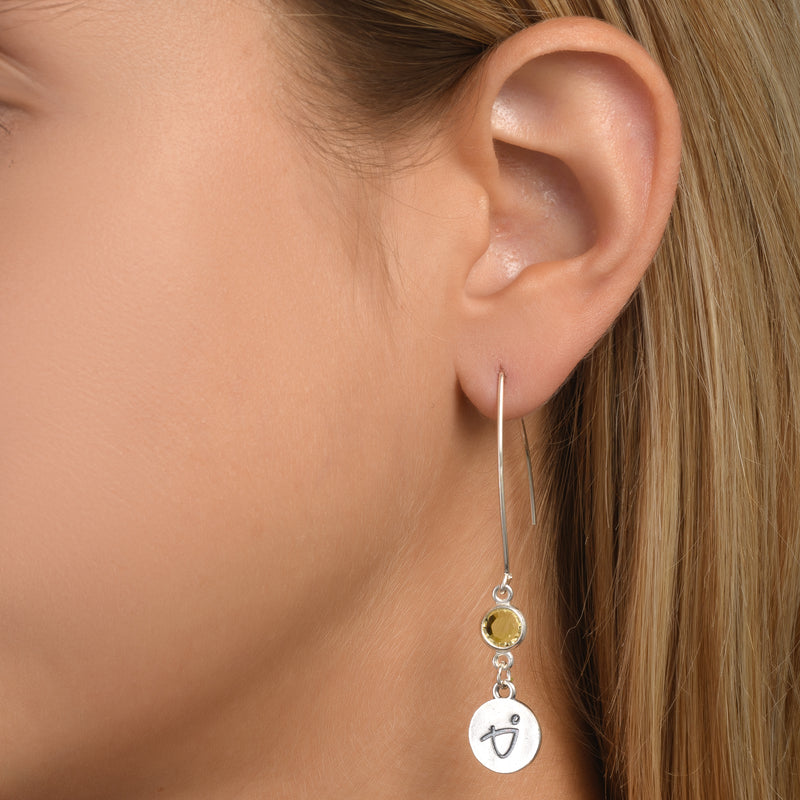 BE BRAVE - Sterling Silver Earrings with Swarovski® Crystal