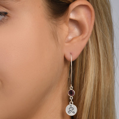 JUST BE - Sterling Silver Earrings with Swarovski® Crystal