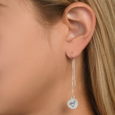 BE BRAVE -  Tails Sterling Silver Earrings with Swarovski® Crystal