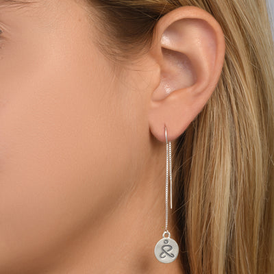 JUST BE - Tail Sterling Silver Earrings with Swarovski® Crystal