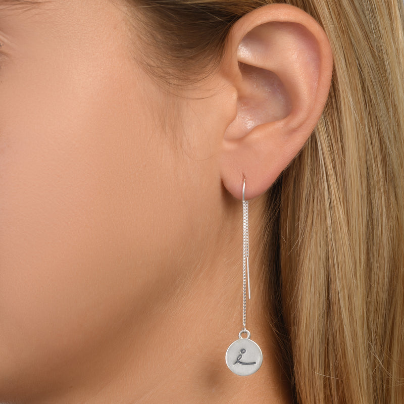 BE LOVE -  Tail Sterling Silver Earrings with Swarovski® Crystal