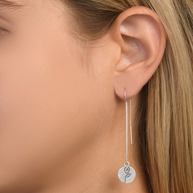 BE STRONG -  Tail Sterling Silver Earrings with Swarovski® Crystal