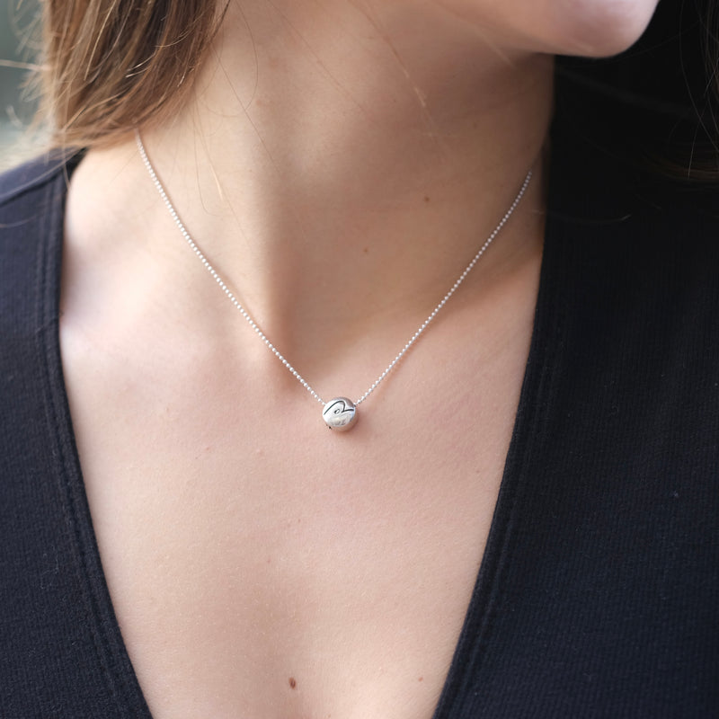 BE PURE - Sterling Silver Pendant Ball Chain Necklace