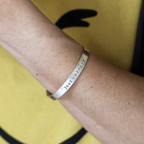 Flat Sterling Silver Customizable Cuff