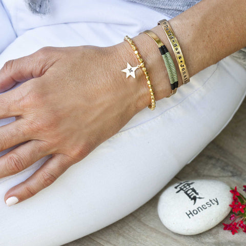Flat Gold Plated Customizable Cuff
