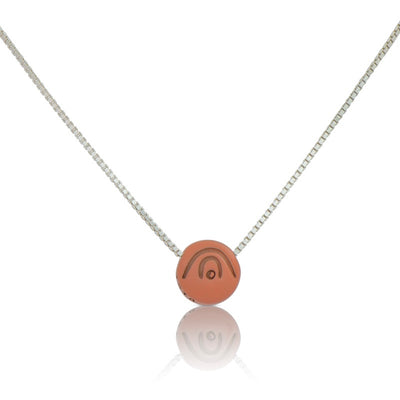 BE CREATIVE Necklace - sacral chakra - chain color