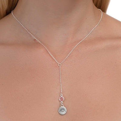 BE CREATIVE - Tail Sterling Silver Necklace with Swarovski® Crystal