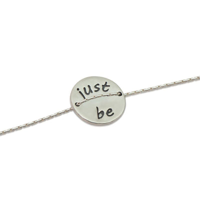 Bracelet - Lotus Pose - Just Be Silver Bracelet