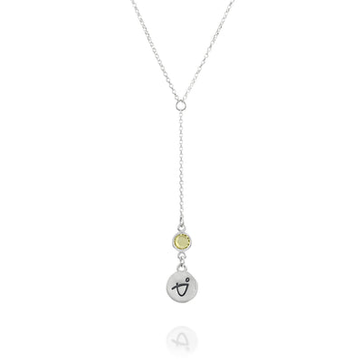 BE BRAVE - Tail Sterling Silver Necklace with Swarovski® Crystal