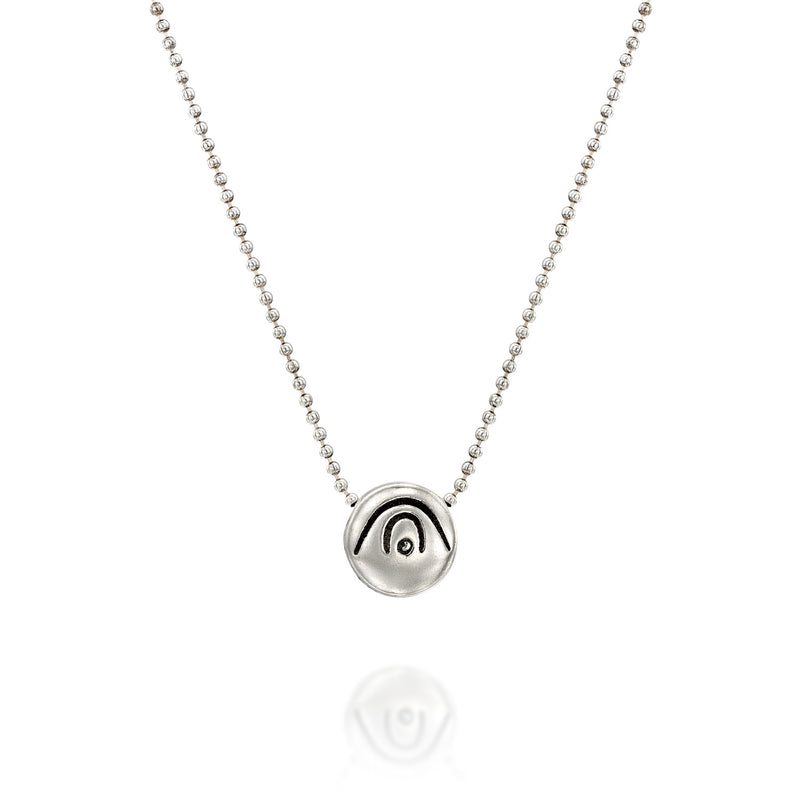 BE CREATIVE - Sterling Silver Pendant Ball Chain Necklace