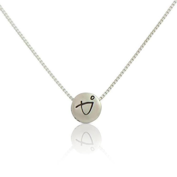 Necklace - BE BRAVE - Sterling Silver Pendant Box Chain Necklace