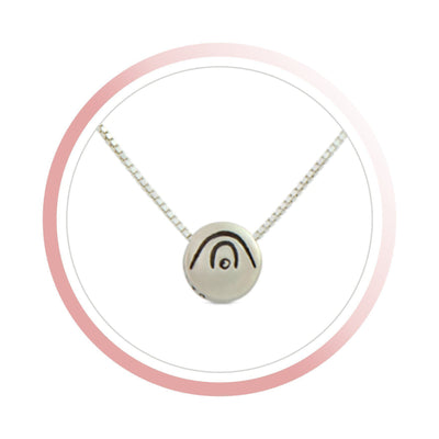 Necklace - BE CREATIVE - Sterling Silver Pendant Box Chain Necklace