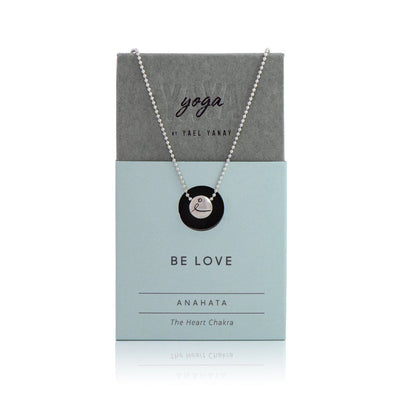 Necklace - BE LOVE - Sterling Silver Pendant Ball Chain Necklace