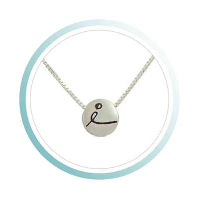 Necklace - BE LOVE - Sterling Silver Pendant Box Chain Necklace