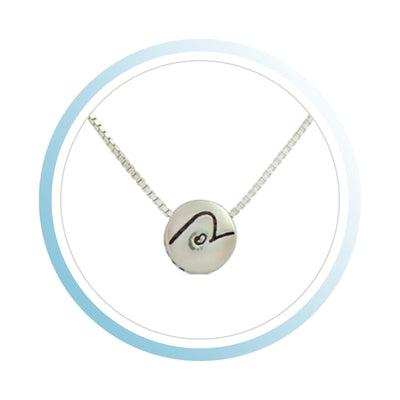 Necklace - BE PURE - Sterling Silver Pendant Box Chain Necklace