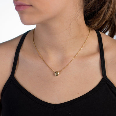 Necklace - BE STRONG - Gold Plated Pendant Necklace