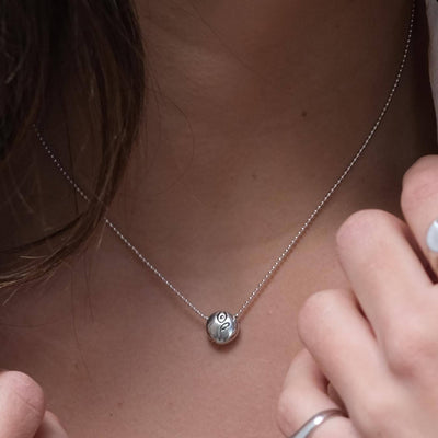 BE STRONG - Sterling Silver Pendant Ball Chain Necklace