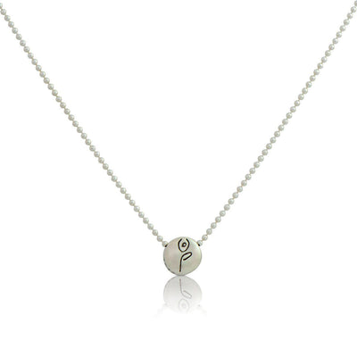 Necklace - BE STRONG - Sterling Silver Pendant Ball Chain Necklace