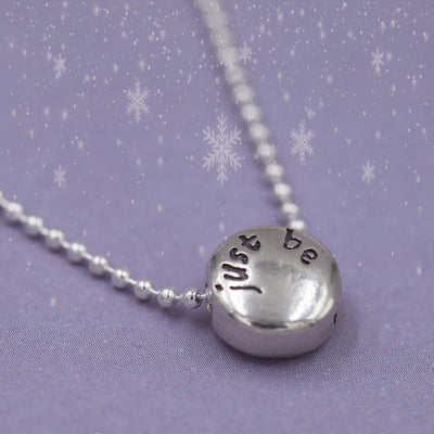Necklace - JUST BE - Sterling Silver Pendant Ball Chain Necklace
