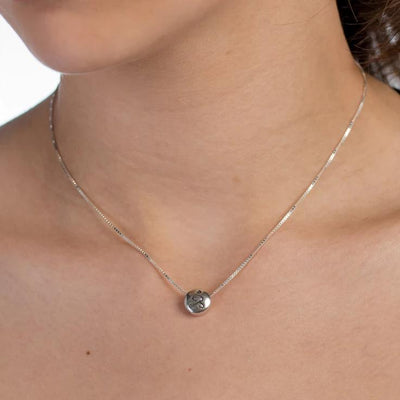 Necklace - JUST BE - Sterling Silver Pendant Box Chain Necklace