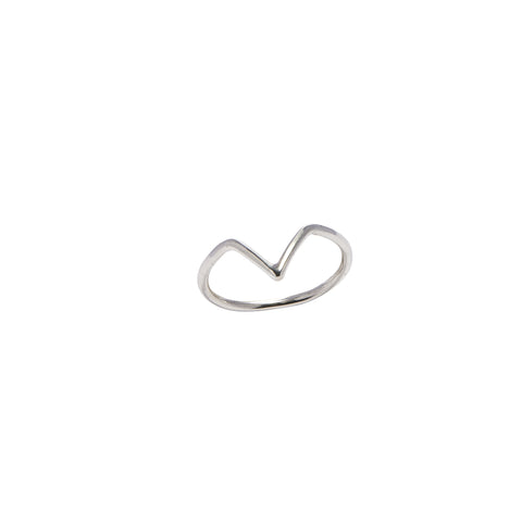 Chevron V Shaped Silver Ring