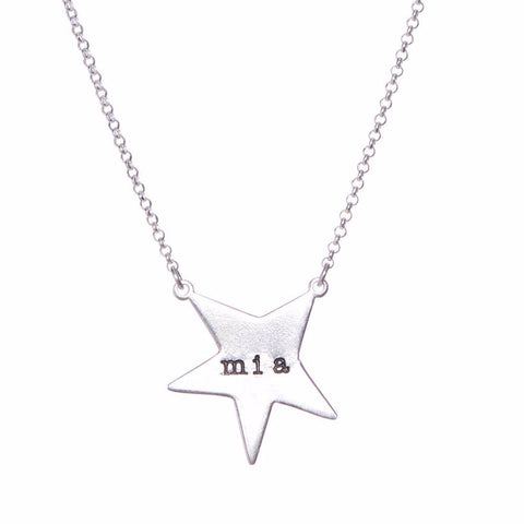 Large Star Sterling SIlver Pendant Necklace