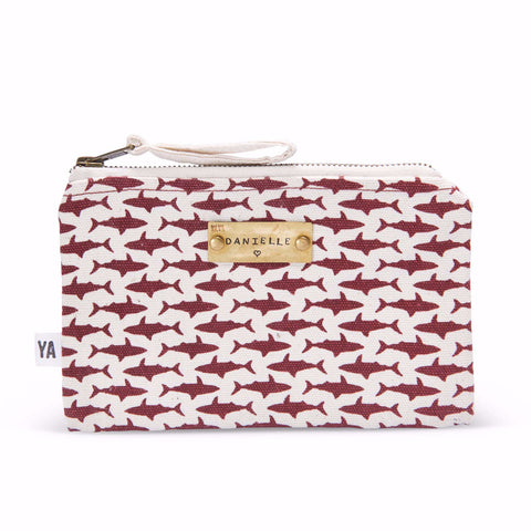 Shark Print Custom Tag Pouch