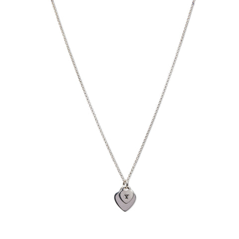 'LoveYA' Silver Hearts Necklace