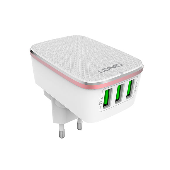 LDNIO 3 USB Travel Wall Charger [US & EU]