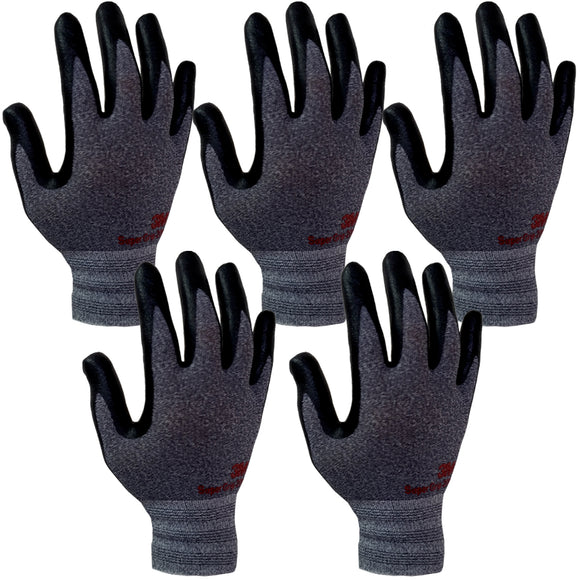 3M Super Grip 200 Gardening Work Gloves 5 PACK [Grey]