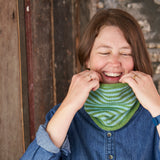 4-Round Stripe Twiss Cowl in Lawn and Sky from Something New to Learn About Helical Knitting