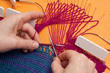 A sample tutorial photo showing a section of lace being corrected.