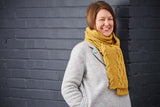 Yellow Wagtail scarf by Sarah Hatton