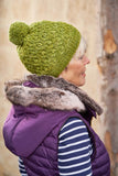 Apple Swizzle Hat by Thea Colman featuring dip stitches from Boost Your Knitting
