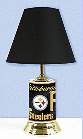 Pittsburgh Steelers Lamp with # 1 fan graphics wrap around the entire Lamp.