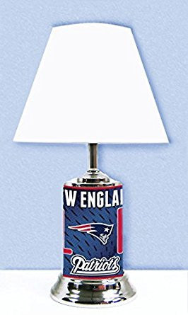 New England Patriots Lamp with # 1 fan graphics wrap around the entire Lamp.